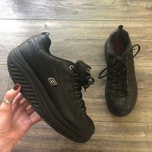 Skechers Shape Ups Black Work Slip Resistant Shoe
